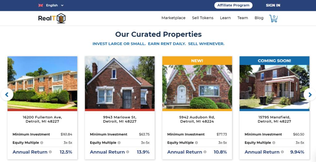 RealT Properties Blockchain Investing Real Estate
