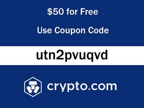 Crypto.com Coupon Referral Code 50 MCO