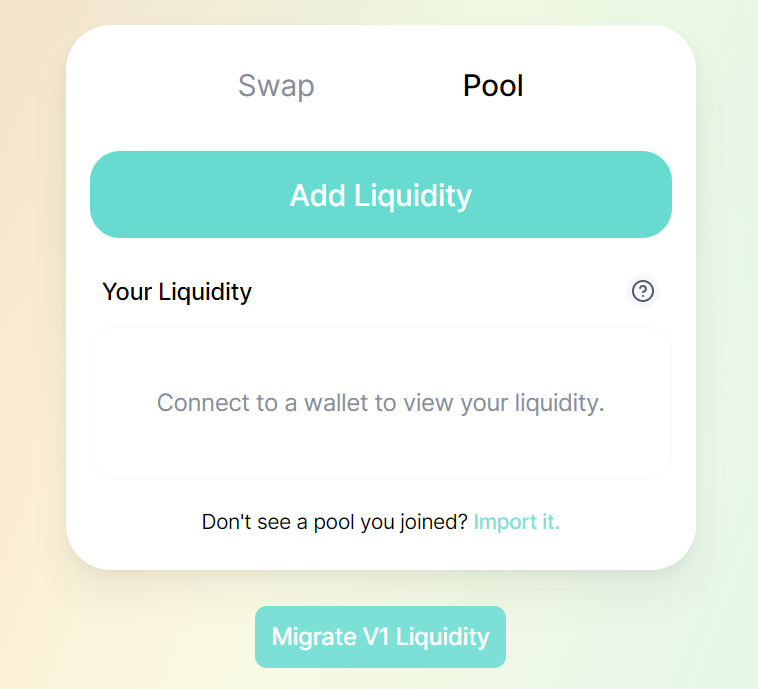 Add liquidity to pool on honeyswap